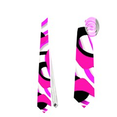 Ribbon Chaos Pink Neckties (two Side)