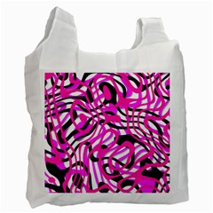 Ribbon Chaos Pink Recycle Bag (Two Side)