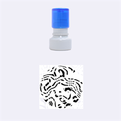 Ribbon Chaos Pink Rubber Round Stamps (Small)