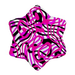 Ribbon Chaos Pink Ornament (snowflake)