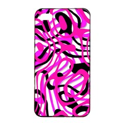 Ribbon Chaos Pink Apple Iphone 4/4s Seamless Case (black)
