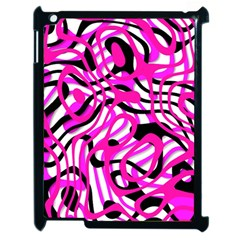 Ribbon Chaos Pink Apple iPad 2 Case (Black)