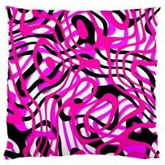 Ribbon Chaos Pink Large Cushion Cases (Two Sides)