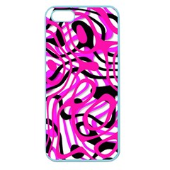 Ribbon Chaos Pink Apple Seamless iPhone 5 Case (Color)