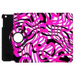 Ribbon Chaos Pink Apple iPad Mini Flip 360 Case