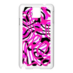Ribbon Chaos Pink Samsung Galaxy Note 3 N9005 Case (White)