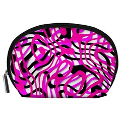 Ribbon Chaos Pink Accessory Pouches (Large)