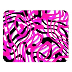 Ribbon Chaos Pink Double Sided Flano Blanket (large)