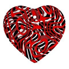 Ribbon Chaos Red Ornament (Heart)