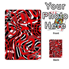 Ribbon Chaos Red Playing Cards 54 Designs