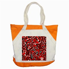 Ribbon Chaos Red Accent Tote Bag