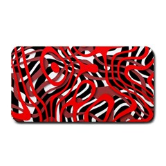 Ribbon Chaos Red Medium Bar Mats