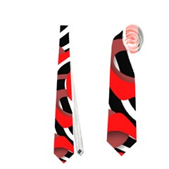 Ribbon Chaos Red Neckties (two Side)
