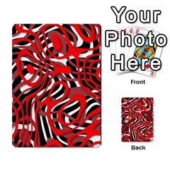 Ribbon Chaos Red Multi Purpose Cards (rectangle)