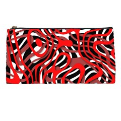 Ribbon Chaos Red Pencil Cases
