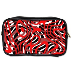 Ribbon Chaos Red Toiletries Bags 2-Side