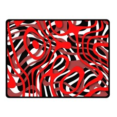 Ribbon Chaos Red Fleece Blanket (Small)