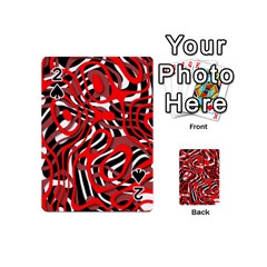 Ribbon Chaos Red Playing Cards 54 (Mini)