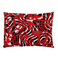Ribbon Chaos Red Pillow Cases (Two Sides)