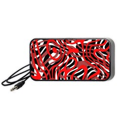 Ribbon Chaos Red Portable Speaker (black)