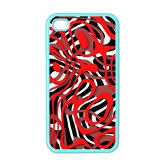 Ribbon Chaos Red Apple iPhone 4 Case (Color)