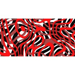 Ribbon Chaos Red YOU ARE INVITED 3D Greeting Card (8x4)