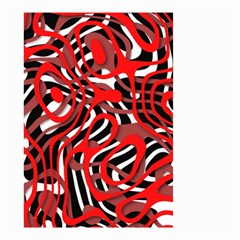 Ribbon Chaos Red Small Garden Flag (Two Sides)