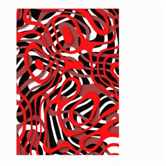 Ribbon Chaos Red Large Garden Flag (two Sides)