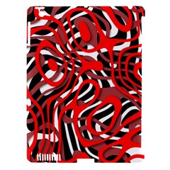 Ribbon Chaos Red Apple iPad 3/4 Hardshell Case (Compatible with Smart Cover)
