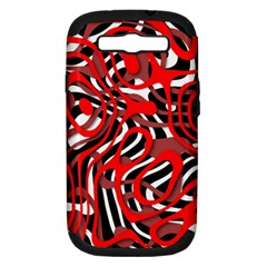 Ribbon Chaos Red Samsung Galaxy S III Hardshell Case (PC+Silicone)