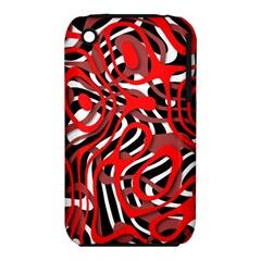 Ribbon Chaos Red Apple Iphone 3g/3gs Hardshell Case (pc+silicone)