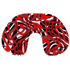 Ribbon Chaos Red Travel Neck Pillows