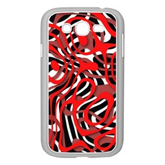 Ribbon Chaos Red Samsung Galaxy Grand Duos I9082 Case (white)