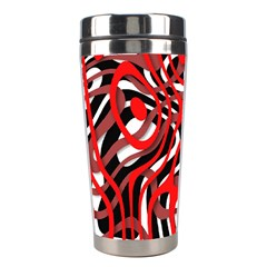 Ribbon Chaos Red Stainless Steel Travel Tumblers