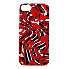 Ribbon Chaos Red Apple iPhone 5S Hardshell Case