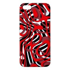 Ribbon Chaos Red iPhone 5S Premium Hardshell Case