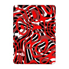 Ribbon Chaos Red Samsung Galaxy Note 10.1 (P600) Hardshell Case
