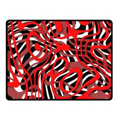 Ribbon Chaos Red Double Sided Fleece Blanket (Small)