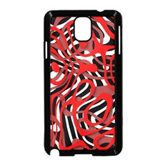 Ribbon Chaos Red Samsung Galaxy Note 3 Neo Hardshell Case (Black)