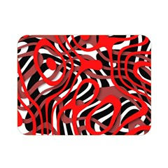 Ribbon Chaos Red Double Sided Flano Blanket (mini)
