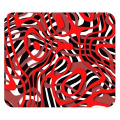 Ribbon Chaos Red Double Sided Flano Blanket (Small)