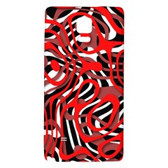 Ribbon Chaos Red Galaxy Note 4 Back Case