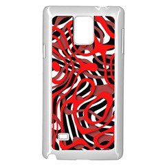 Ribbon Chaos Red Samsung Galaxy Note 4 Case (white)