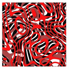 Ribbon Chaos Red Large Satin Scarf (square)