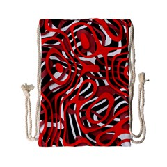 Ribbon Chaos Red Drawstring Bag (Small)