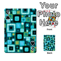 Teal Squares Playing Cards 54 Designs
