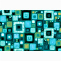 Teal Squares Collage 12  X 18