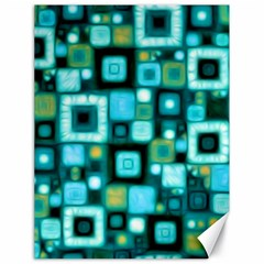 Teal Squares Canvas 18  X 24