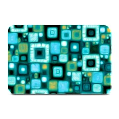 Teal Squares Plate Mats