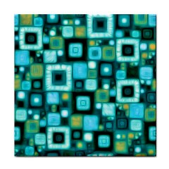 Teal Squares Face Towel